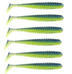 Berkley Power Baits Power Swimmer 3.8IN 10cm Electric Blue Chartreuse 1483683