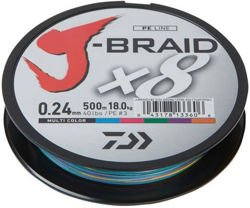 Plecionka Daiwa J-Braid Multicolor 0,18mm 300m 12755-118