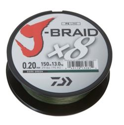 Plecionka Daiwa J-Braid X8 0,18mm 150m Green 12751-018