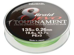 Plecionka Daiwa Tournament 8 Braided EVO  0,14/135m 10,2kg 12780-114