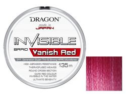 Plecionka Dragon Invisible VANISH RED 0.08mm 135m 41-10-808