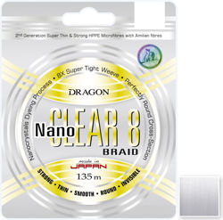 Plecionka Dragon NanoCLEAR 8 0,16mm 135m 40-04-316